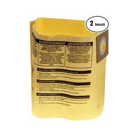 Saci hartie Shop Vac pentru aspiratoare de 20-30 litri cu eficienta ridicata Tip H (2 bucati)